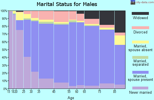 Westchester County marital status for males