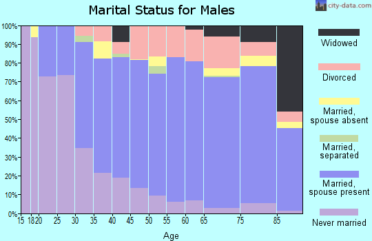 Cape May County marital status for males