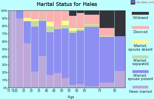 Wyoming County marital status for males