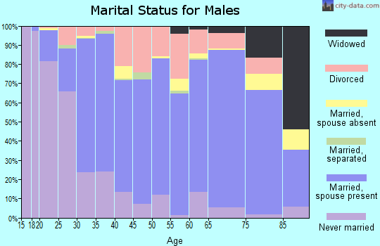 Ford County marital status for males