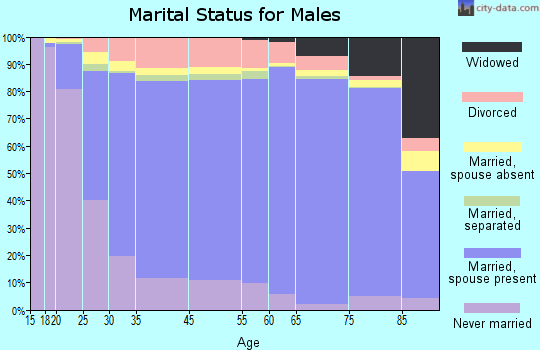 Morrill County marital status for males