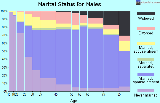 Athens County marital status for males