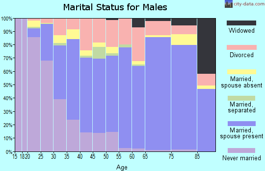 Glascock County marital status for males