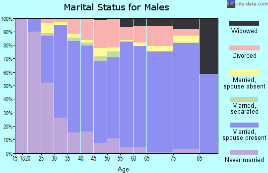 Beckham County marital status for males