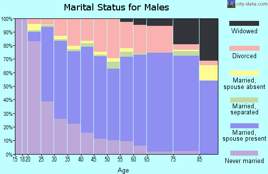 Massac County marital status for males
