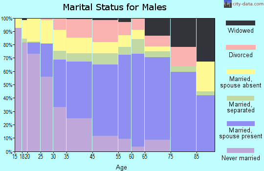Redwood County marital status for males