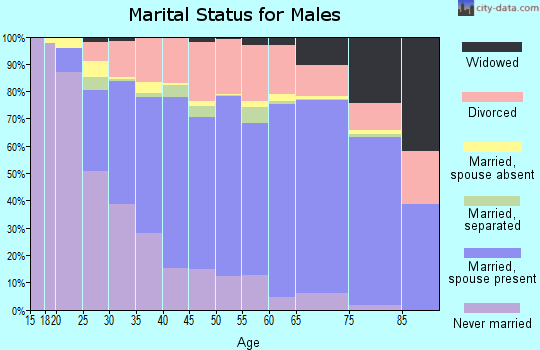New Kent County marital status for males