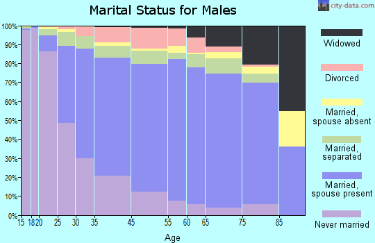 Washington County marital status for males