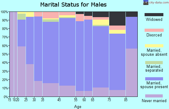 Wakulla County marital status for males