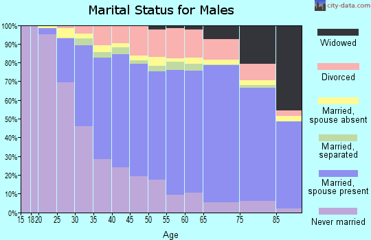 Bamberg County marital status for males