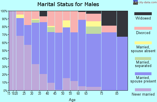 Morgan County marital status for males