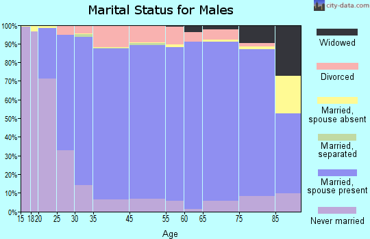 Obion County marital status for males