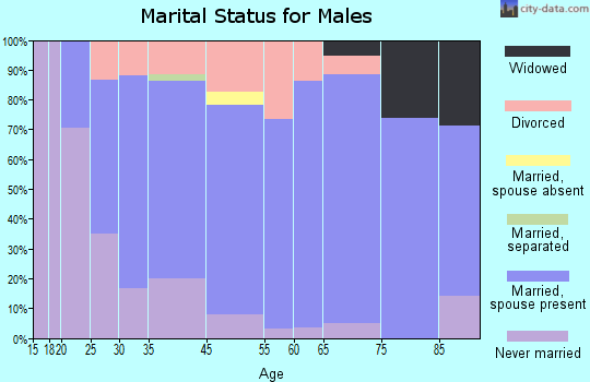 Pawnee County marital status for males