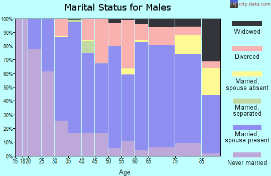 Atchison County marital status for males