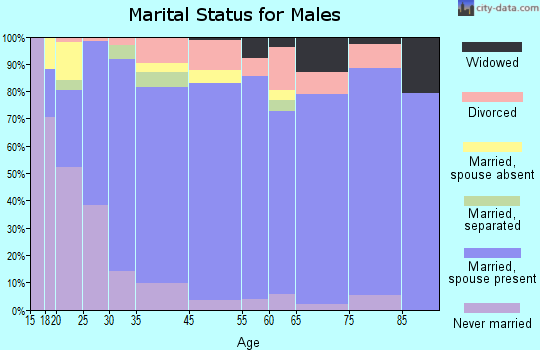 O'Brien County marital status for males