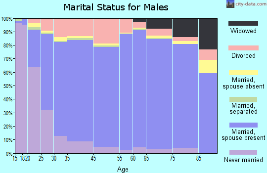 Tishomingo County marital status for males