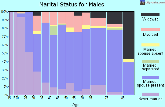 Polk County marital status for males