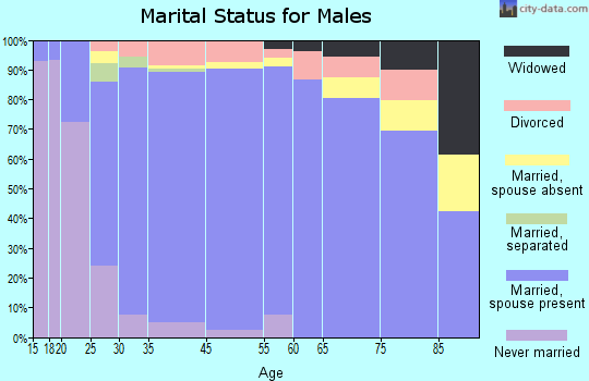 Erath County marital status for males
