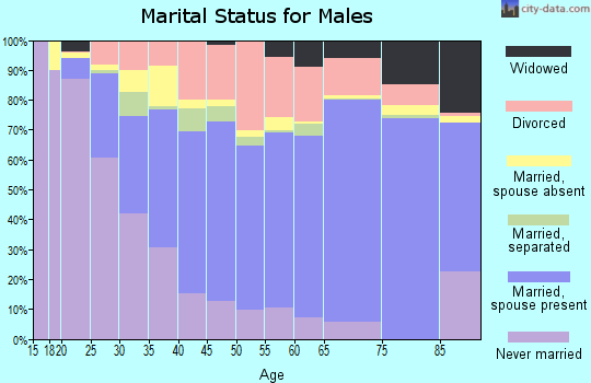 Perry County marital status for males