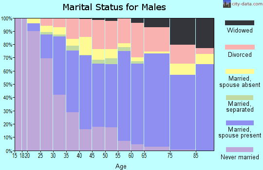 Spencer County marital status for males