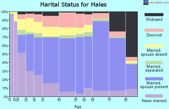 Kodiak Island Borough marital status for males