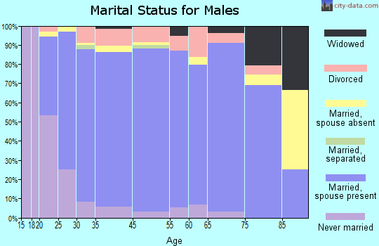Sequatchie County marital status for males