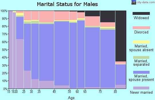 Prince William County marital status for males