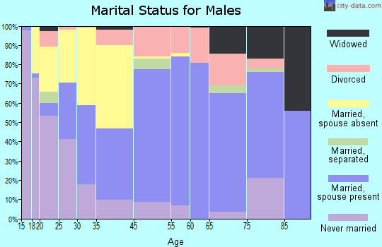 Winston County marital status for males