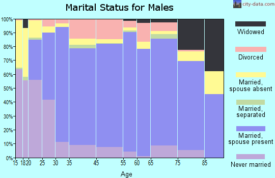 Seward County marital status for males