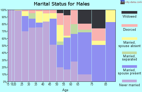 Waseca County marital status for males