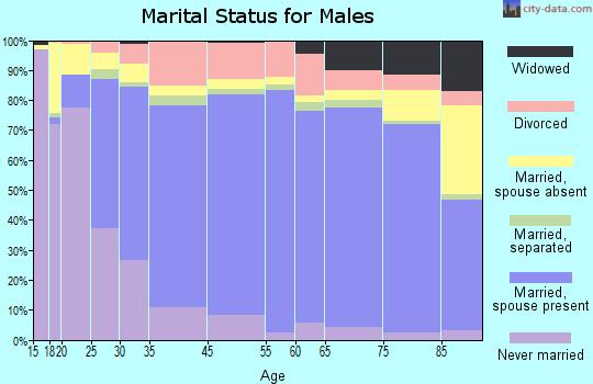 Yazoo County marital status for males