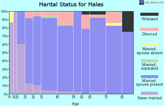 Frio County marital status for males