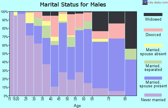 Rockingham County marital status for males