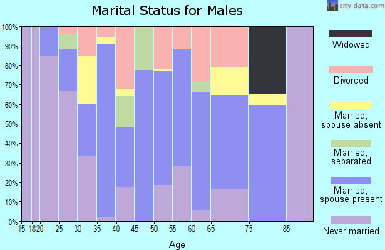 Mercer County marital status for males
