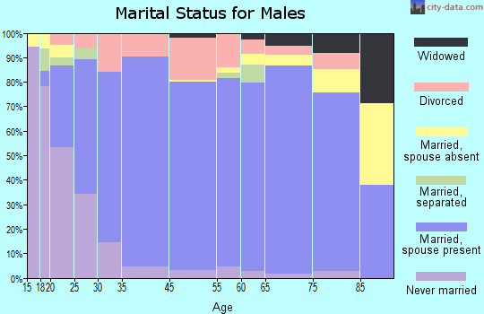 Tipton County marital status for males