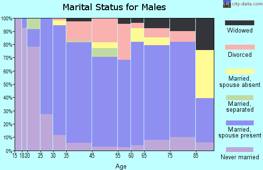 Metcalfe County marital status for males