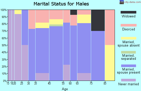 Wayne County marital status for males