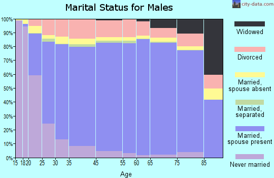 Putnam County marital status for males