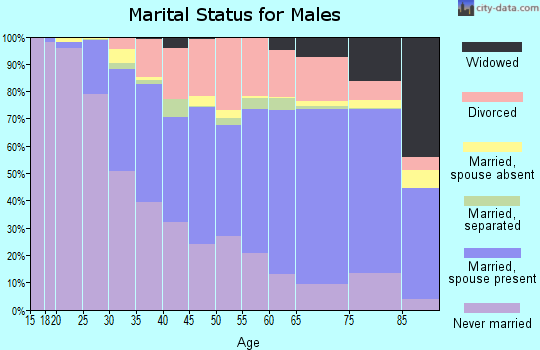 Thomas County marital status for males