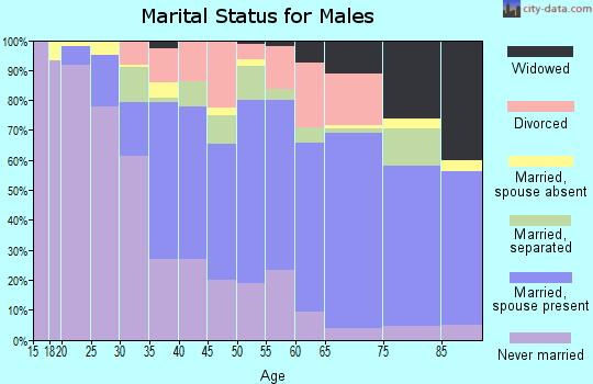 Williams County marital status for males