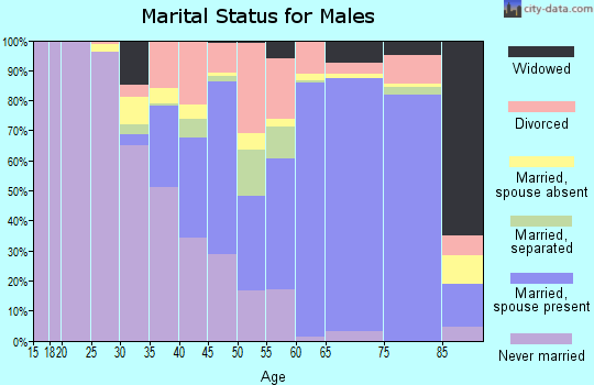 Thurston County marital status for males