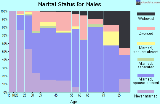 Wyandot County marital status for males