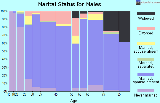 Goliad County marital status for males