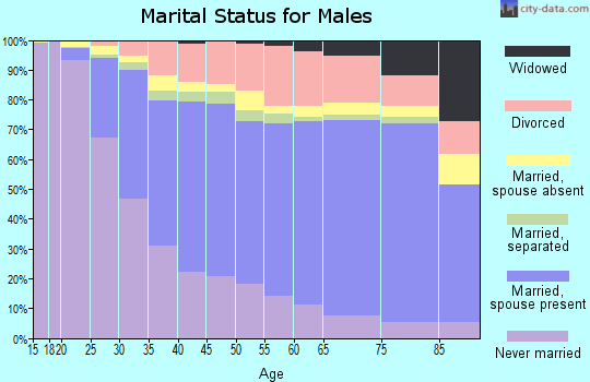 Van Buren County marital status for males