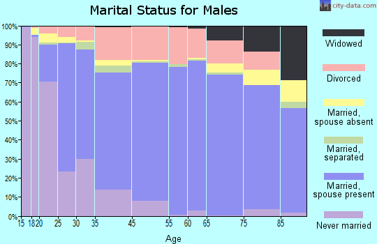 Barnwell County marital status for males