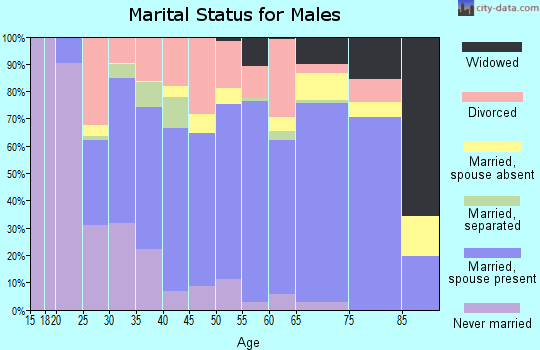 Wake County marital status for males