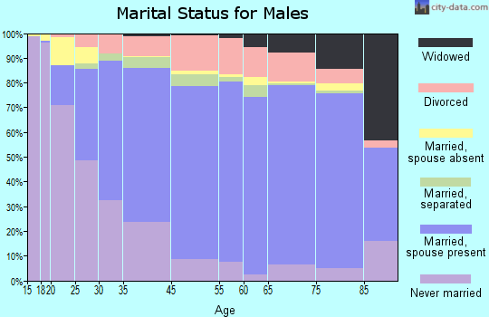 Weakley County marital status for males