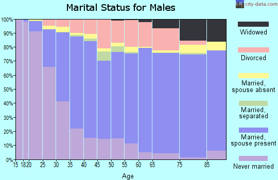 Gregg County marital status for males