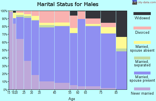 Bradley County marital status for males