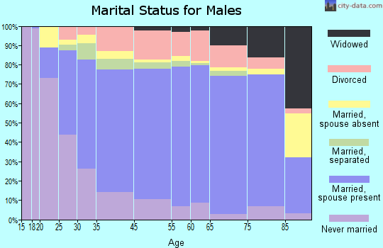 Guadalupe County marital status for males